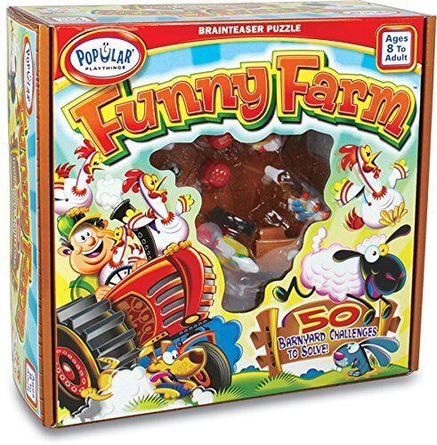 Popular Playthings Funny Farm Farm Farm Brainteaser Puzzle d81505