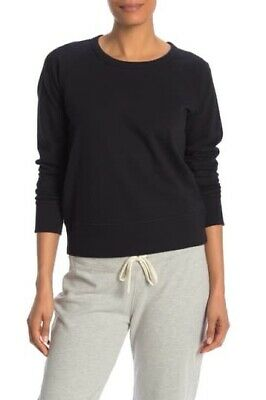 James Perse Womens Classic Crew Red