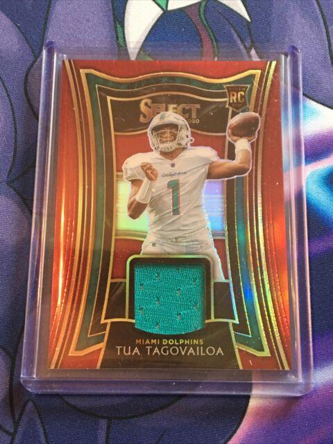 2020 NFL Panini Select Tua Tagovailoa RC Red Patch Relic Card #RS-TTA