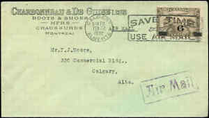 Cover-Canada-1932-COMMERCIAL-AIR-MAIL-MONTREAL-CALGARY-with-Scott-C