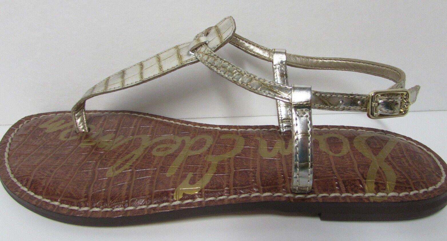 Sam Edelman Größe 8 Gold Croc Sandale New Damenschuhe Schuhes