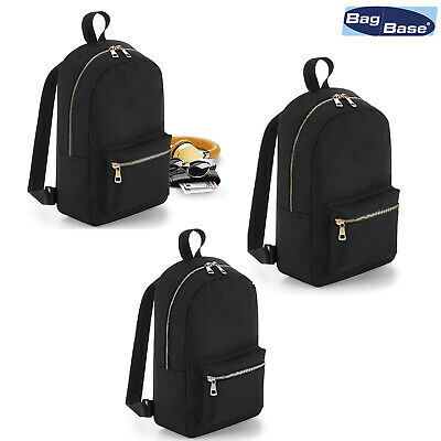 Bagbase Metallico Zip Mini Zaino Bg233-mostra Il Titolo Originale