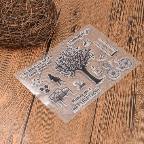 DIY Cute Bike Girl Clear Transparent Silicone Stamps Scrapbook Card Album Decor