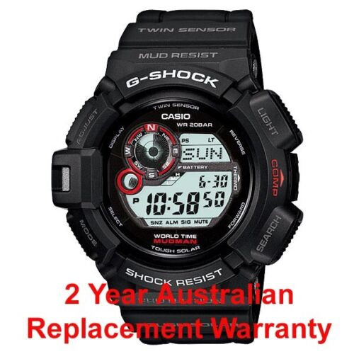 1 of 1 - CASIO G-SHOCK MUDMAN WATCH G-9300-1 FREE EXPRESS SOLAR G-9300-1DR 2YEAR WARRANTY