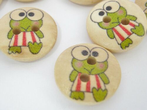Enfants Cartoon Grenouille Animal vêtements bouton 10 Grenouille couture boutons 15 mm 5//8/""