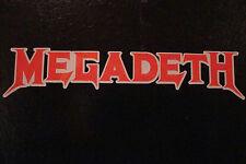2 Megadeth 4.5 pulgadas calcomanías / Stickers Banda De Rock Musica Guitarra Moto Cascos