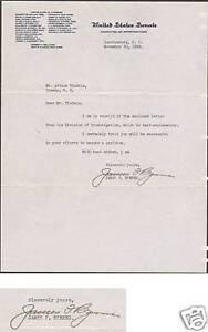 James F. Byrnes, US Senator from South Carolina, signed 1934 Letter TLS