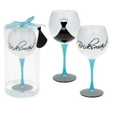 Mud Pie Gift Boxed Bridesmaid Large Wine Glass Hen Night Gift Wedding Blue Party