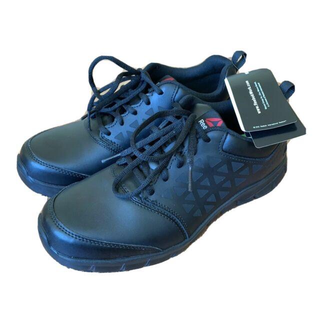 pesadilla Cargado Bombero  Men Reebok SRB3203 Sublite Cushion Work Slip Resistant Athletic Shoes BLACK  9.5M for sale online