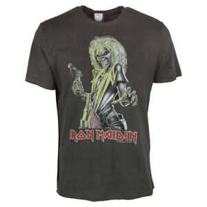 Trooper Amplified Iron Maiden Men/'s Charcoal T-Shirt