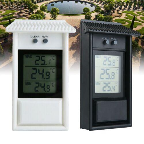 Gartenthermometer Hygrometer Aussen Fensterthermometer Außen Min-Max wetterfest