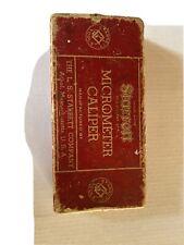 Vtg Starrett Micrometer Caliper No 436 Machinist Tool With Original Box 1
