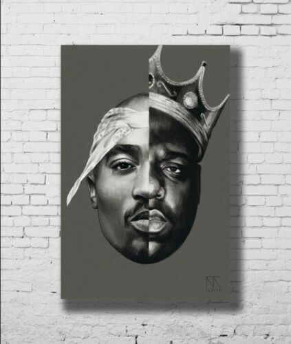 P-765 Art 2Pac tupac Notorious BIG LW-Canvas Poster 21 24x36in