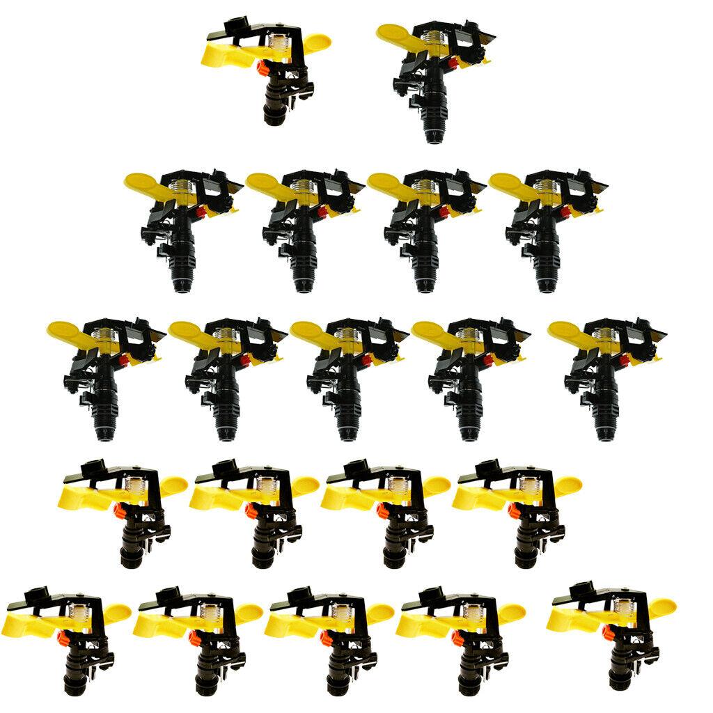 20Pcs 3 4'' 1 2'' DN15 DN20 Heavy Duty Impact Head Sprinkler 25-360 Degree