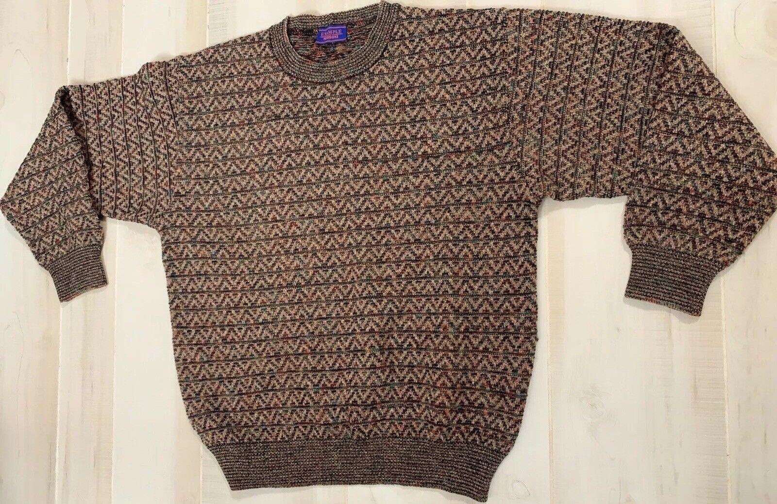 Vintage Example By Missoni Wool Alpaca Chevron Multi ColGoldt Jumper Sweater Sz M