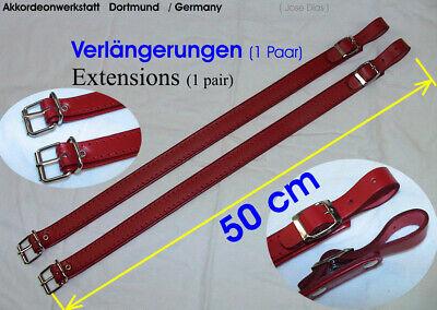 50 Cm Verlängerung Für Akkordeongurte, Riemen,extension For Accordion Straps Rot Dauerhafte Modellierung