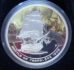 2010-Cook-Islands-Famous-Naval-Battles-Trafalgar-1oz-Silver-Proof-Coin