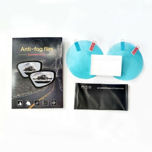 2x Auto Anti-Fog-Folie Regenschutz Rückspiegel Blendschutz Anti-Beschlag