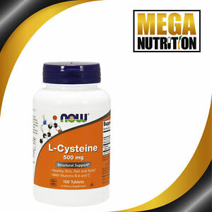 NOW-Foods-L-Cysteine-500mg-100-Tablets-NAC-Skin-Hair-and-Nails-Supplement