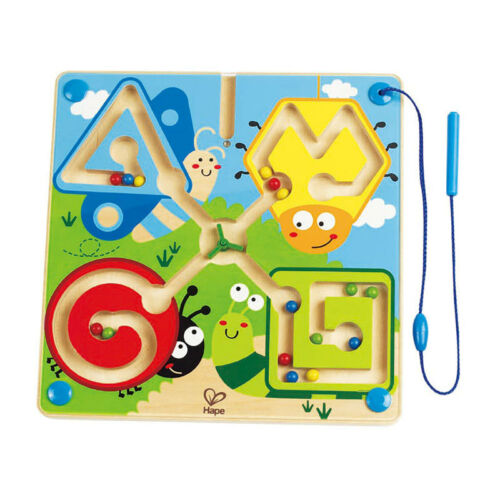 "Hape E1709 Magnetspiel /""kleine Tierwelt/"" Magnetlabyrinth Motorikspiel Holz NEU!#"