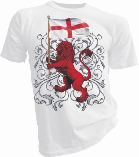 Three Lions Adult /& Kids T-Shirt Lion Lion of St George England