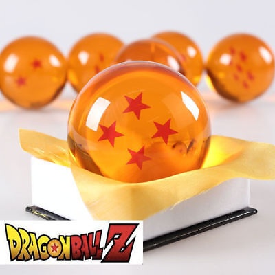 New Dragonball Z Dragon Ball Large 4 Stars Crystal Resin 3/'/' 7.6cm 1pc Only