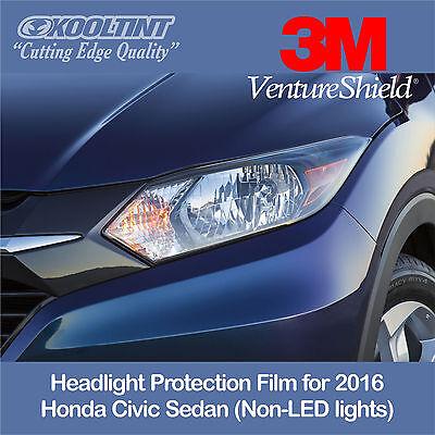 Headlight Protection Film by 3M for the 2016 Honda Civic Sedan Non-LED