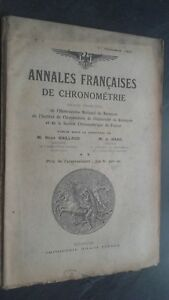 Folleto-Anales-Franceses-De-Chronometries-N-1-1E-Trim-1931ABE