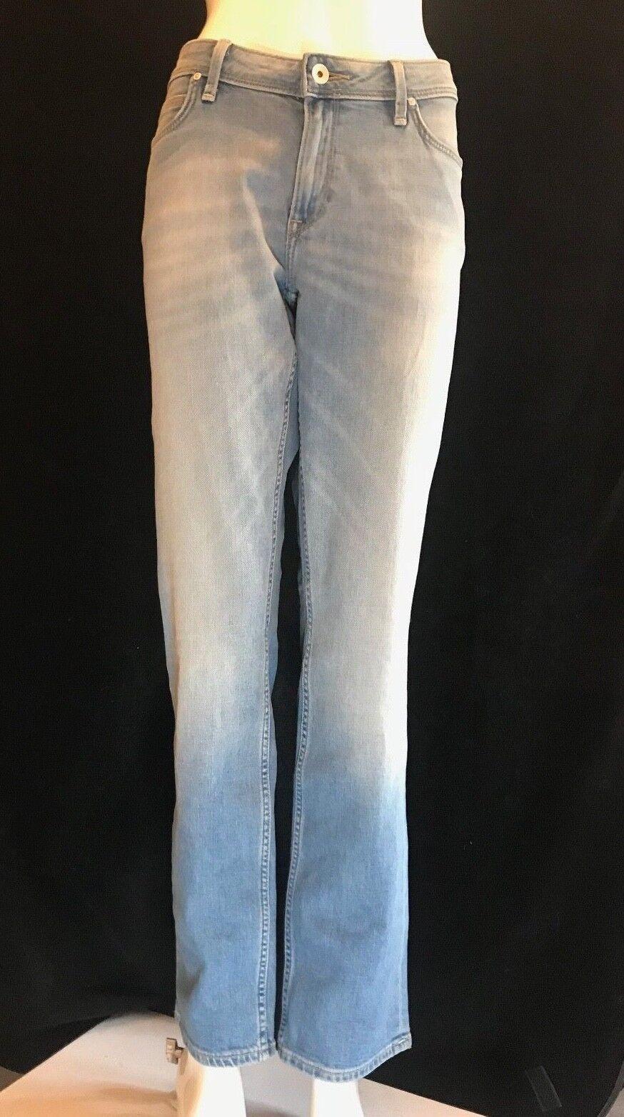 BNWT LEE Ladies Emlyn Straight Leg Jeans in Beach bluee W 32  L 33  RRP