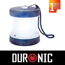 Duronic RL123 ECO Collapsible Wind Up LED USB Camping Outdoor Lamp Light Lantern