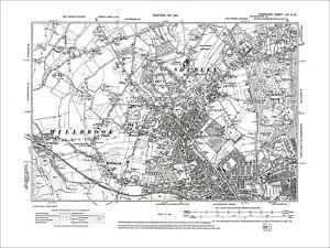 Image Is Loading Southampton Shirley Millbrook Redbridge Old Map Hampshire 1911