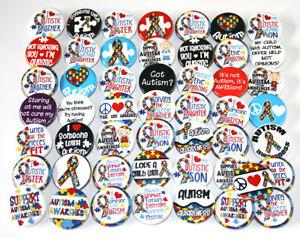 50-x-AUTISM-AWARENESS-1-25-034-BADGES-Buttons-Pinbacks-Wholesale-Lot-32mm