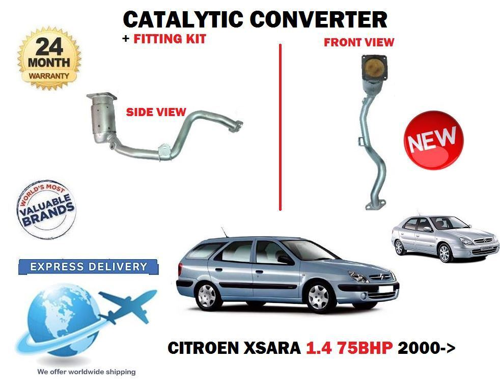Für CITROËN Xsara 1.4 + Kombi 75bhp 2000  Neu Katalysator Cat + Satz