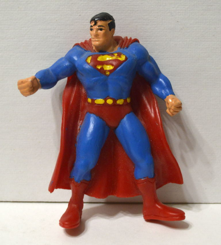 SUPERMAN 3 1 2  Rubber FIGURE from SPAIN 1992 RARE