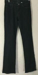 Theory-Women-039-s-Cotton-Blend-Boot-Cut-Jeans-Black-Sz-2