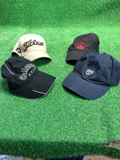 Lot Of 4 Golf Hats Nike Callaway Titleist Fj Pro V1 Fiited Adjustable cap  Black 71647ee1e28b