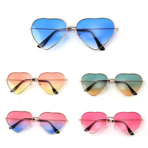 a045ed7840 Image is loading Gradient-Sun-Glasses-Vintage-Metal-Frame-Lolita-Heart-