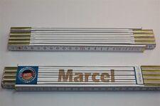 Zollstock mit Namen      MARCEL   Lasergravur 2 Meter Handwerkerqualität