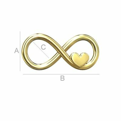Alta calidad plata esterlina 925 signo de infinito con conector corazón encantos