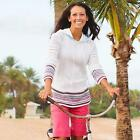 NWT Athleta XS Top BEACH BUM PULLOVER SWEATER Summer Hoodie Cover Up Shirt $89