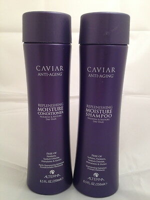 Alterna Caviar Anti ageing replenishing moisture shampoo and conditioner 250ml