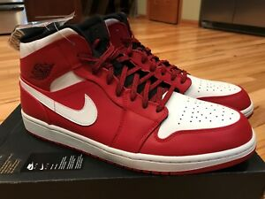 Details about Nike Air Jordan 1 Mid Chicago Gym Red White Black 554724 605 Men's Size 15