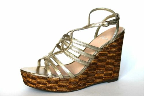 7 D Women's Sandals Tortoise Wedge Uk Shell Metallic New Clarks Platform Heel EgqnSxwE