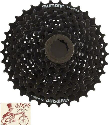 SHIMANO CS-HG200-9 HYPERGLIDE 9 SPEED---11-34T BLACK MTB BICYCLE CASSETTE
