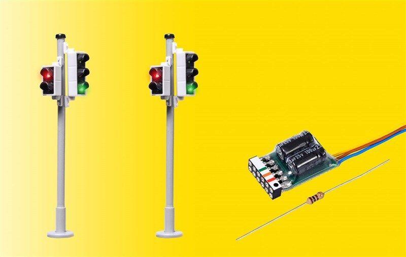 Viessuomon 5095 h0 TRASPORTI SEMAForo CON SEMAForo pedonale e LED 2x