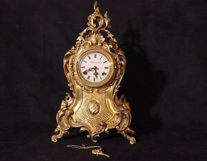 SUPERBO-SPLENDIDO-OROLOGIO-IN-BRONZO-DORATO-DA-TAVOLO-COLLECTION-D-039-ART