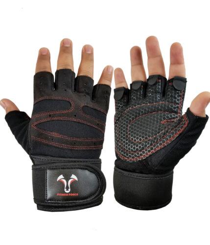 Gloves Weight Lifting Gym Training Fitness Workout Strap Half Finger Men Women