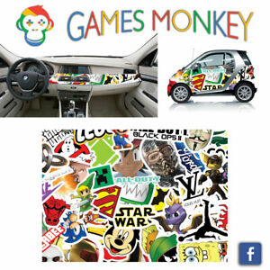 Pellicola-Car-Wrapping-Adesiva-70x50-cm-STICKER-BOMB-04-Vinile-PVC-Lucido-HD