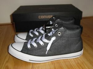 NEW Converse CTAS Street Mid Wolf Grey Almost Black Shoes 160309C ... f329c505f