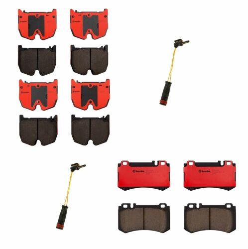 Brembo Front Rear Ceramic Brake Pads Sensors Kit For MB C215 W211 S211 V220 R230